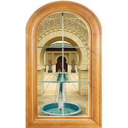 Sticker fen tre vout trompe l 39 oeil d co fontaine for Fenetre orientale
