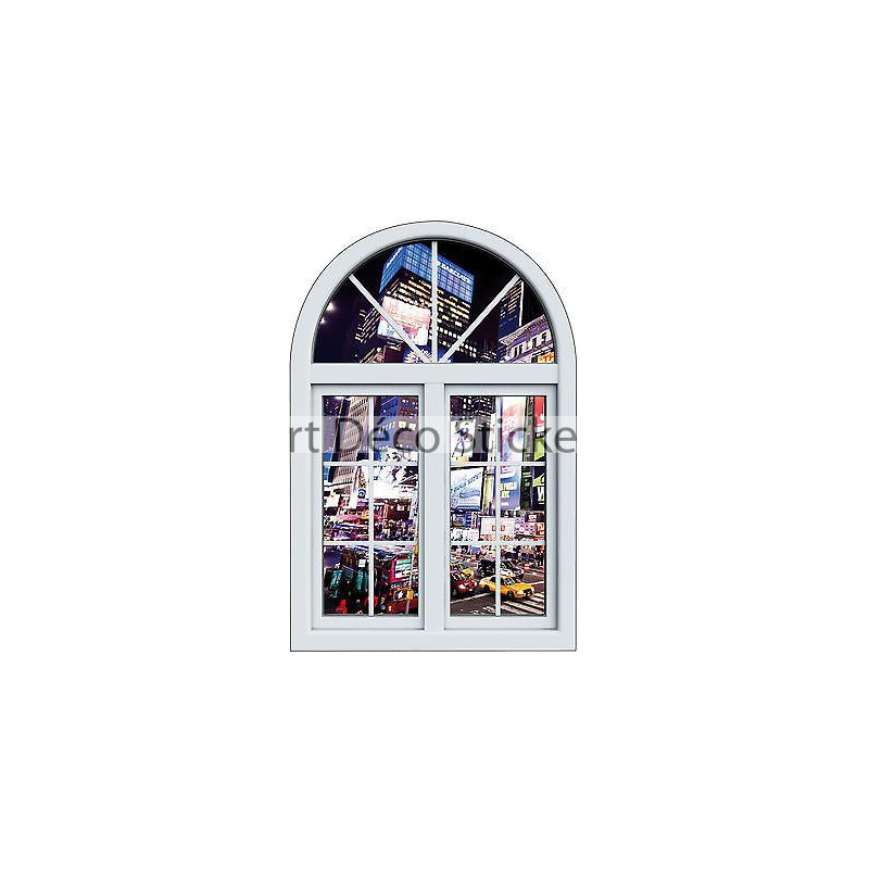 Sticker fen tre trompe l 39 oeil paysage new york r f 1030 for Stickers fenetre new york