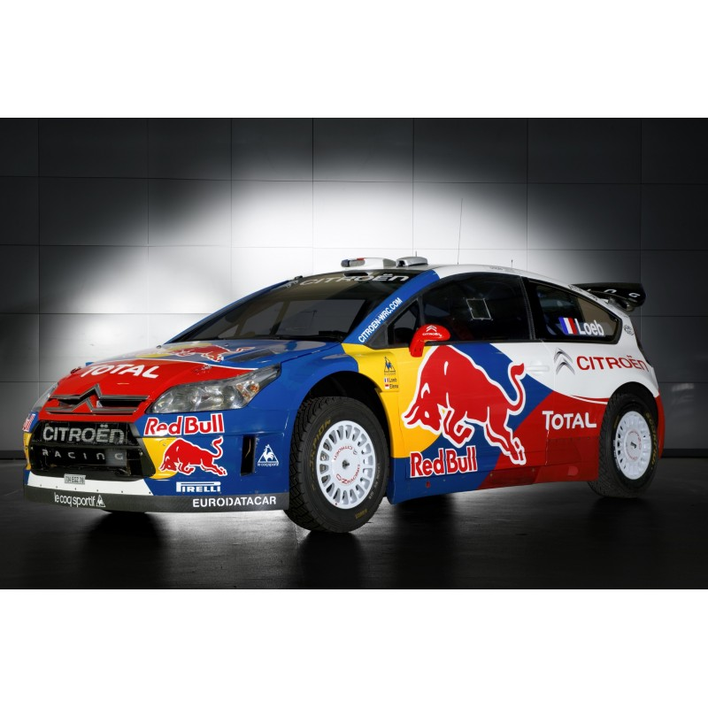 affiche poster citroen c4 wrc loeb rallye stickers muraux deco. Black Bedroom Furniture Sets. Home Design Ideas