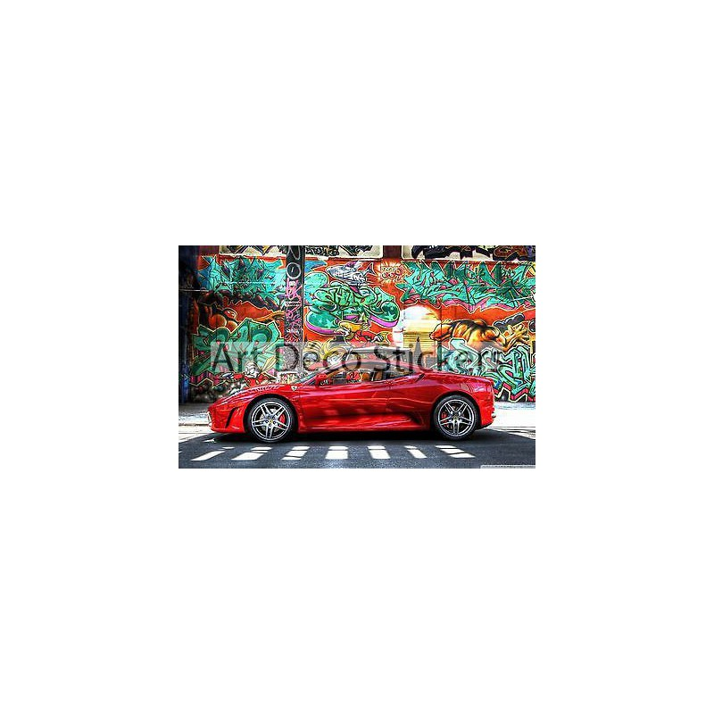 sticker autocollant auto voiture ferrari a265 stickers muraux deco. Black Bedroom Furniture Sets. Home Design Ideas