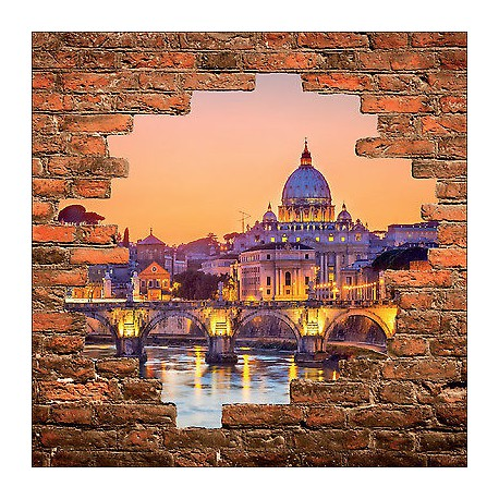 sticker mural trompe l 39 oeil mur de pierre d co basilique r f 914 stickers muraux deco. Black Bedroom Furniture Sets. Home Design Ideas
