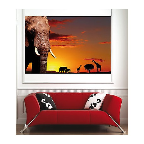 affiche poster d coration murale el phant r f 1594295 6 dimensions stickers muraux deco. Black Bedroom Furniture Sets. Home Design Ideas