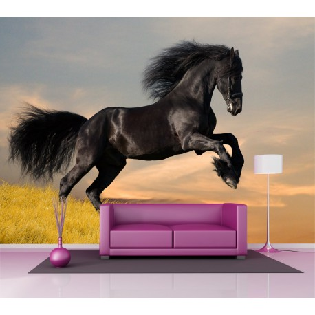 sticker mural g ant cheval 2 6 x3 6 m stickers muraux deco. Black Bedroom Furniture Sets. Home Design Ideas