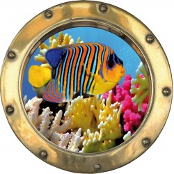 Sticker hublot poisson de la mer rouge H310