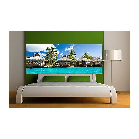 sticker t te de lit d coration murale les maldives 3687 5 dimensions stickers muraux deco. Black Bedroom Furniture Sets. Home Design Ideas