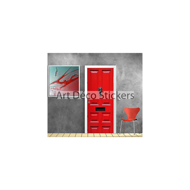 sticker pour porte bois rouge ref 871 stickers muraux deco. Black Bedroom Furniture Sets. Home Design Ideas