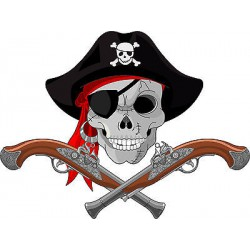 Stickers muraux enfant Pirate pistolets réf 3613
