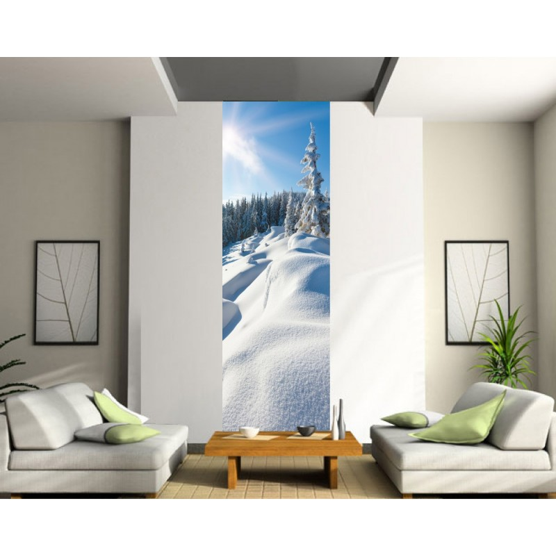 papier peint imprim l unique montagne stickers muraux deco. Black Bedroom Furniture Sets. Home Design Ideas