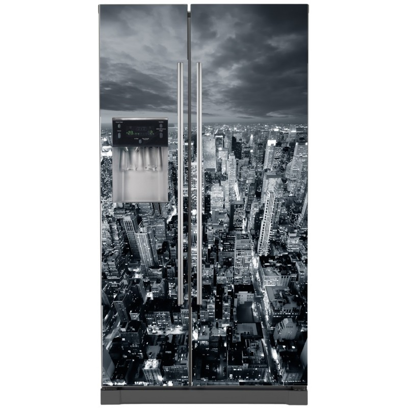 Sticker frigo am ricain new york stickers muraux deco for Decoration porte new york