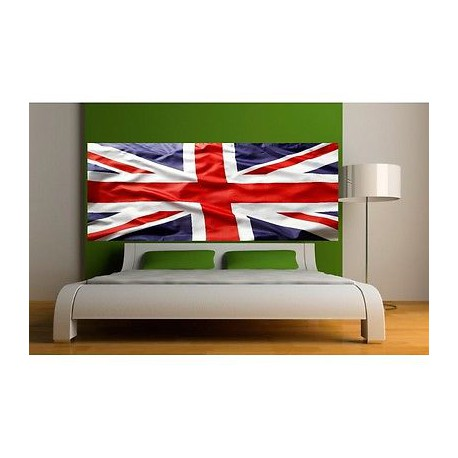 papier peint t te de lit drapeau anglais 3689 stickers muraux deco. Black Bedroom Furniture Sets. Home Design Ideas