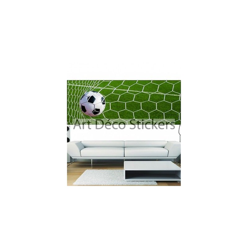 papier peint panoramique ballon de foot 3694 stickers muraux deco. Black Bedroom Furniture Sets. Home Design Ideas
