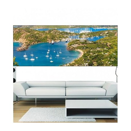 papier peint panoramique mer bateau 3684 stickers muraux deco. Black Bedroom Furniture Sets. Home Design Ideas