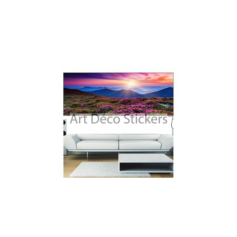 papier peint panoramique paysage montagne 3678 stickers muraux deco. Black Bedroom Furniture Sets. Home Design Ideas