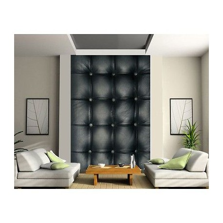 papier peint 2 l s capitonn noir 501 stickers muraux deco. Black Bedroom Furniture Sets. Home Design Ideas