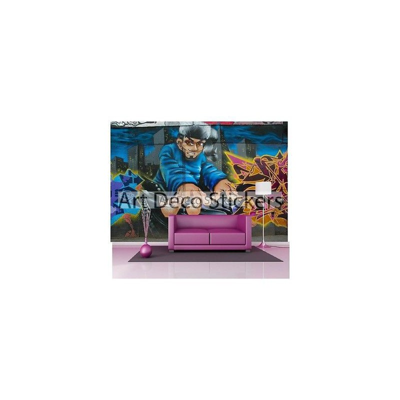 stickers muraux g ant d co graffitis tag dj 1565 stickers muraux deco. Black Bedroom Furniture Sets. Home Design Ideas