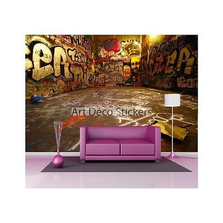 stickers muraux g ant d co graffitis tag street art 1560 stickers muraux deco. Black Bedroom Furniture Sets. Home Design Ideas