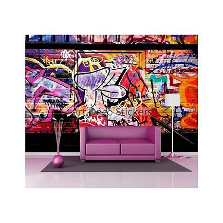 stickers muraux g ant d co graffiti tag 1496 stickers muraux deco. Black Bedroom Furniture Sets. Home Design Ideas