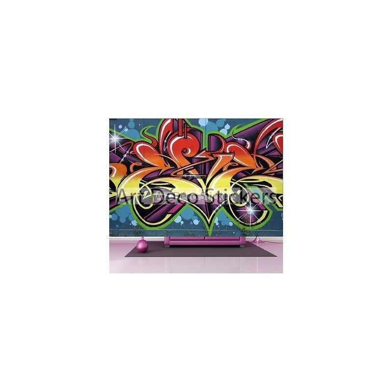 stickers muraux g ant d co graffiti tag 1495 stickers muraux deco. Black Bedroom Furniture Sets. Home Design Ideas