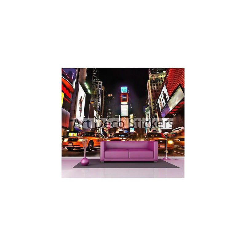 Sticker g ant new york taxi 2 6 x3 6 m p126 stickers muraux deco - Sticker geant new york ...