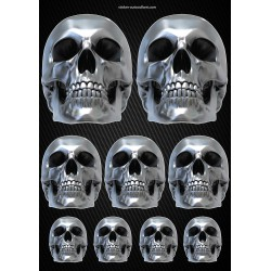 Stickers autocollants Moto Skull Format A4 2507