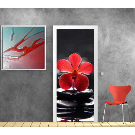 affiche poster pour porte galet orchid e r f 9509 9509 ebay. Black Bedroom Furniture Sets. Home Design Ideas