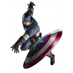Stickers Avengers Capitaine America Réf 9544