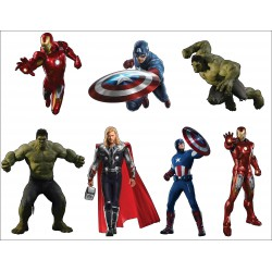 Stickers enfant planche de stickers Avengers ref 8870