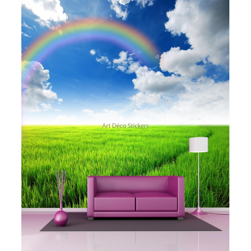 stickers g ant d co arc en ciel 11094 stickers muraux deco. Black Bedroom Furniture Sets. Home Design Ideas