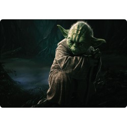 Sticker PC ordinateur portable Star Wars Yoda réf 16247