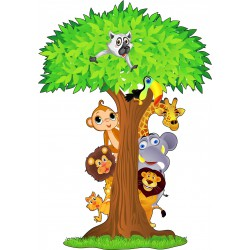 Sticker enfant Animaux jungle ref 1520