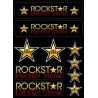 10 Stickers Autocollants Rockstar Energy