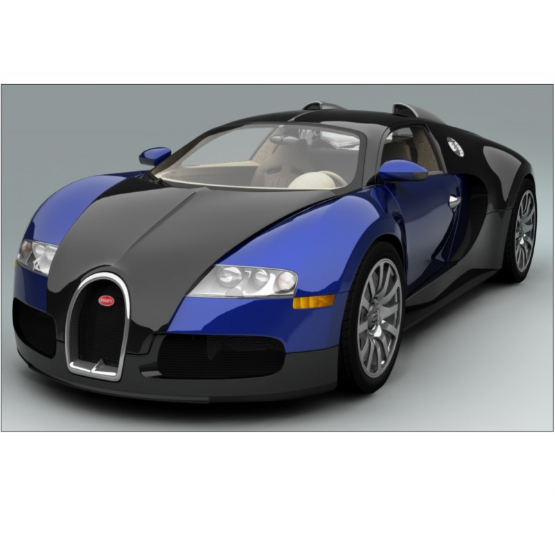 sticker autocollant voiture bugatti veyron bleu sport 132x82 cm stickers muraux deco. Black Bedroom Furniture Sets. Home Design Ideas
