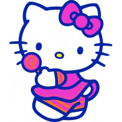sticker Autocollant enfant hello Kitty