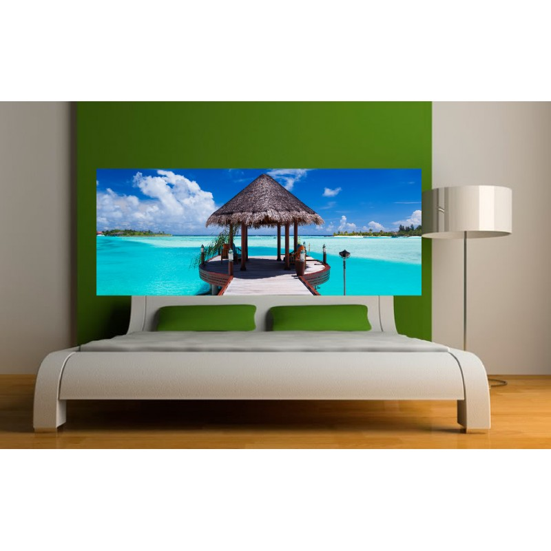 Stickers t te de lit d co chambre maldives stickers - Tete de lit chambre ...