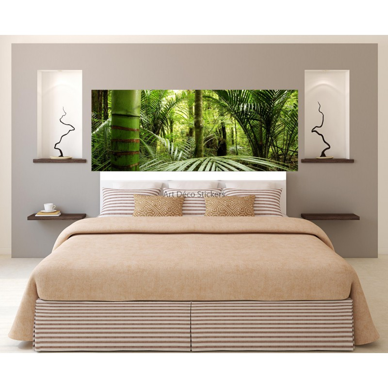 stickers t te de lit d co jungle 3626 stickers muraux deco. Black Bedroom Furniture Sets. Home Design Ideas