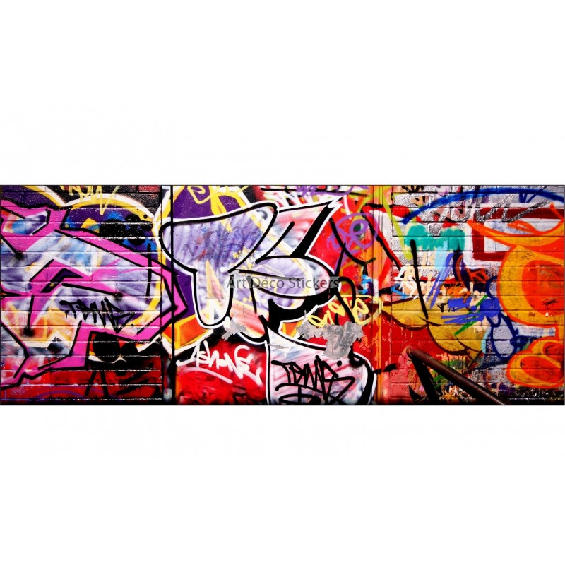 Sticker graffiti art related keywords suggestions - Stickers muraux tete de lit ...