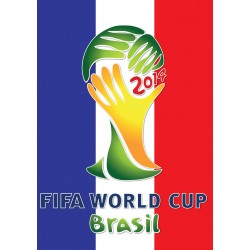 Sticker autocollant foot Coupe du monde Brésil Drapeau France