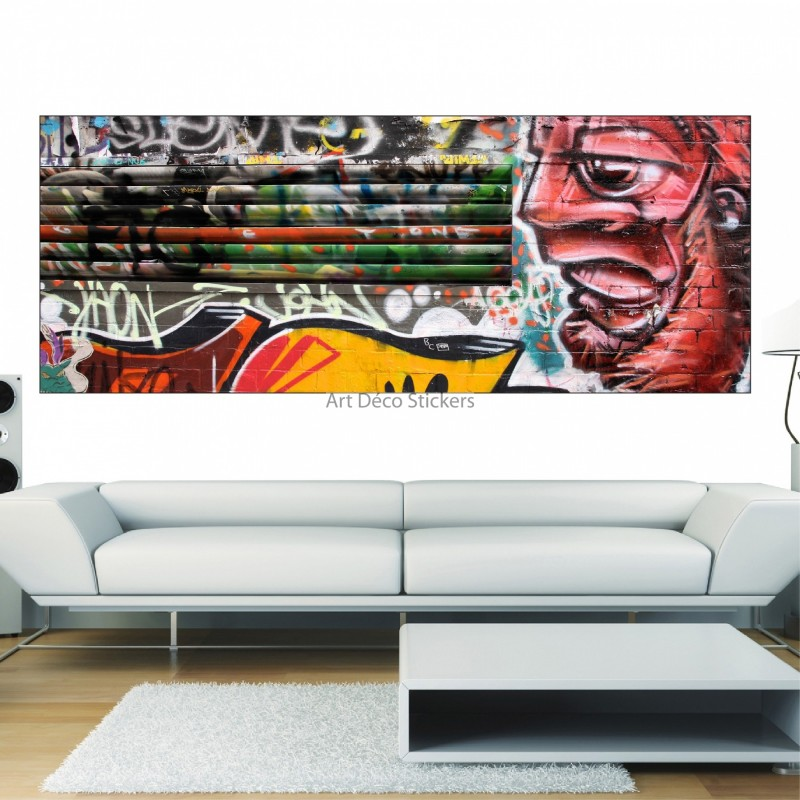 stickers panoramique d co street art graffiti tag stickers muraux deco. Black Bedroom Furniture Sets. Home Design Ideas