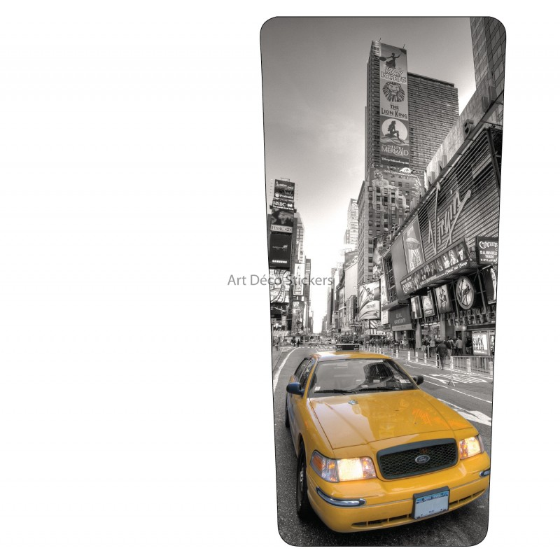 stickers poubelle d co new york taxi stickers muraux deco. Black Bedroom Furniture Sets. Home Design Ideas