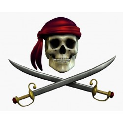 sticker Autocollant enfant Pirate