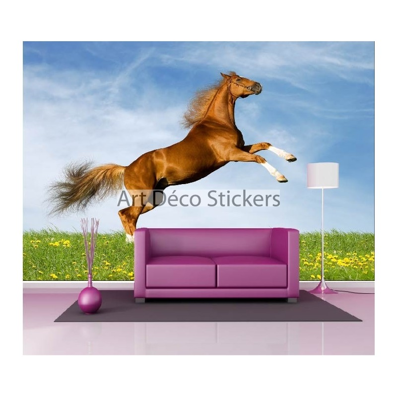 stickers muraux g ant d co cheval 1489 stickers muraux. Black Bedroom Furniture Sets. Home Design Ideas