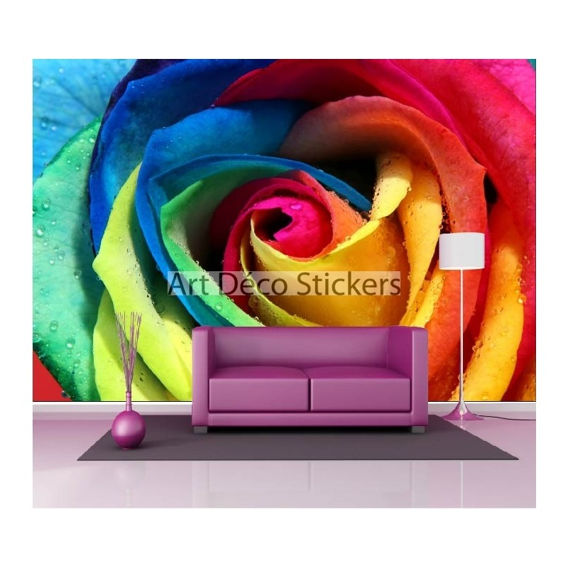 stickers muraux g ant d co rose multicolore stickers muraux deco. Black Bedroom Furniture Sets. Home Design Ideas