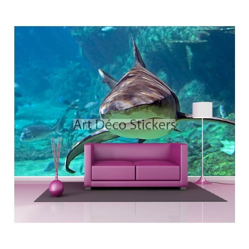 stickers muraux g ant d co requin stickers muraux deco. Black Bedroom Furniture Sets. Home Design Ideas