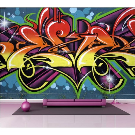 stickers muraux g ant d co graffiti tag stickers muraux deco. Black Bedroom Furniture Sets. Home Design Ideas