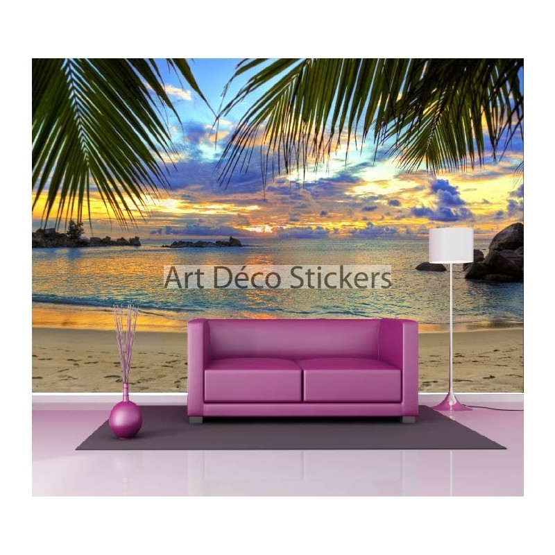 stickers muraux g ant d co plage stickers muraux deco. Black Bedroom Furniture Sets. Home Design Ideas