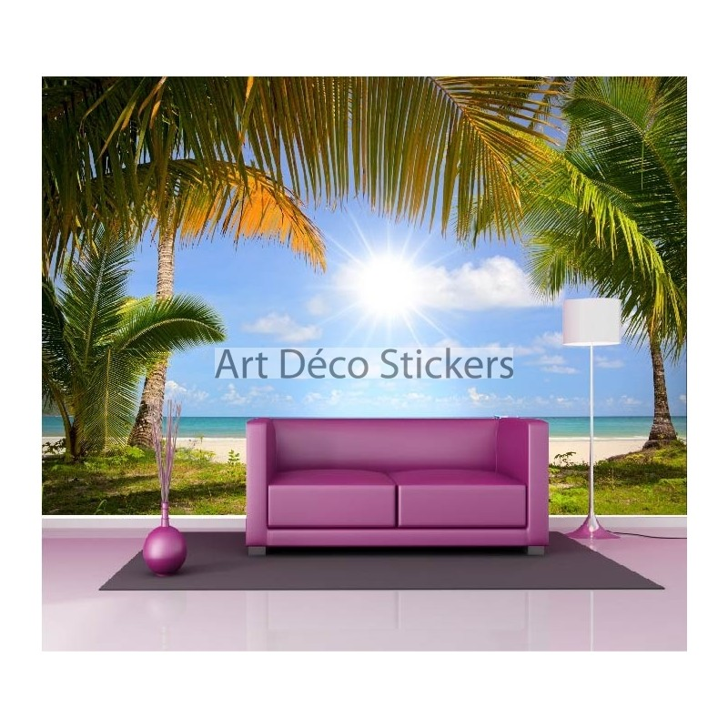 Stickers muraux g ant d co plage stickers muraux deco - Stickers muraux deco ...