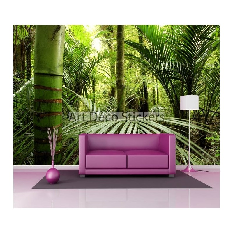 stickers muraux g ant d co for t tropicale stickers muraux deco. Black Bedroom Furniture Sets. Home Design Ideas