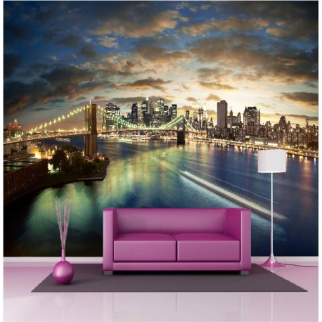 stickers muraux g ant d co pont de brooklyn new york stickers muraux deco. Black Bedroom Furniture Sets. Home Design Ideas