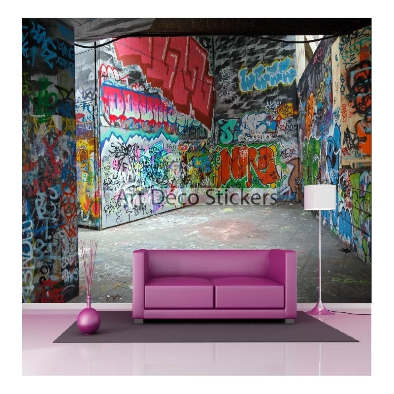 stickers muraux g ant d co graffitis tag street art stickers muraux deco. Black Bedroom Furniture Sets. Home Design Ideas