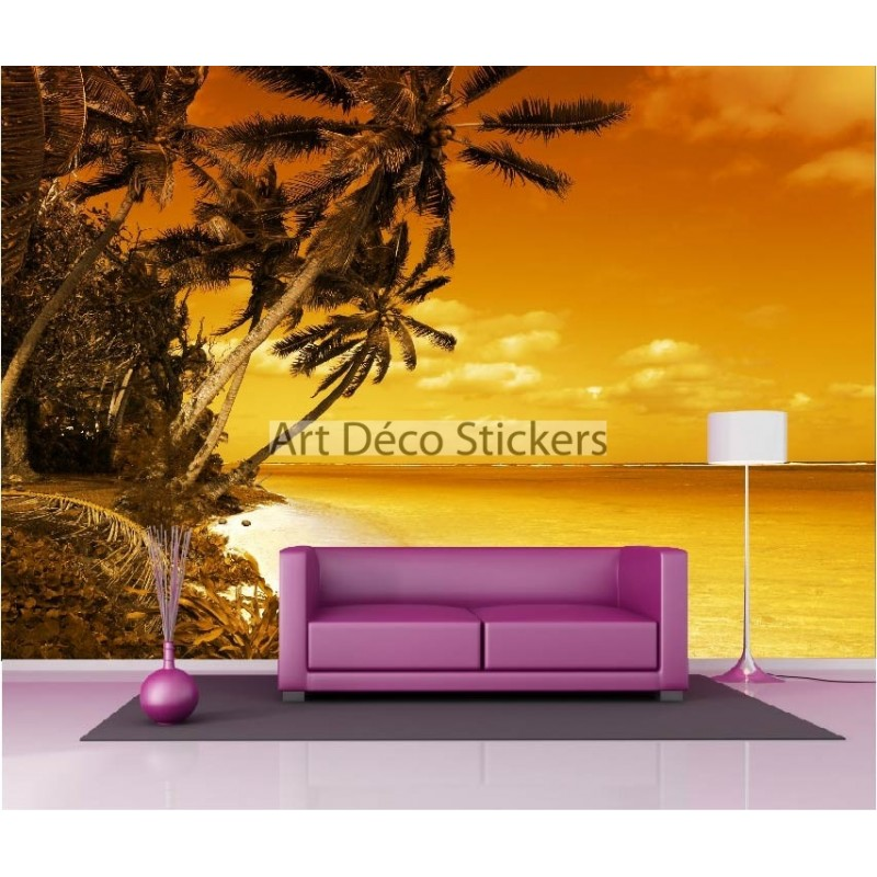 stickers muraux g ant d co plage des cara bes stickers muraux deco. Black Bedroom Furniture Sets. Home Design Ideas